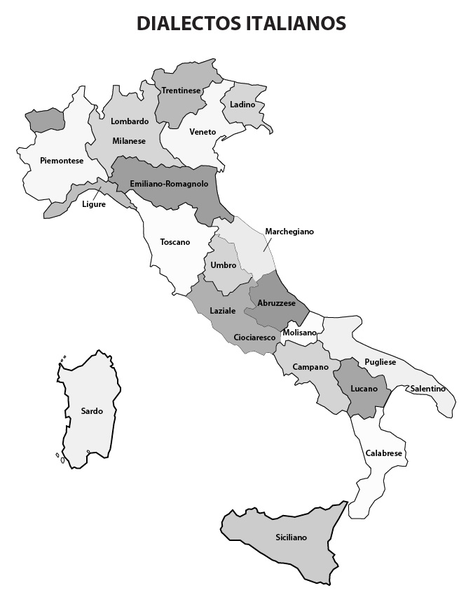 Language Map of Italy