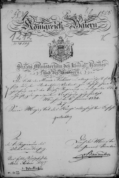 Picture of German Handwritten Document